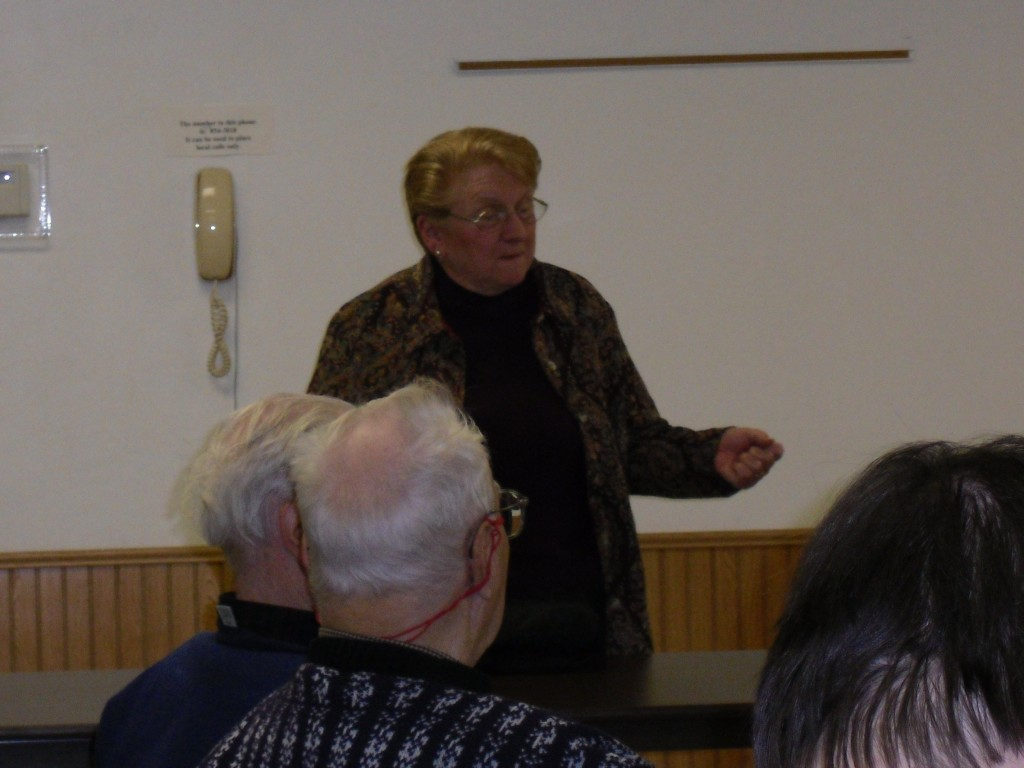 Susan speaking at the Loomis Historic Society
