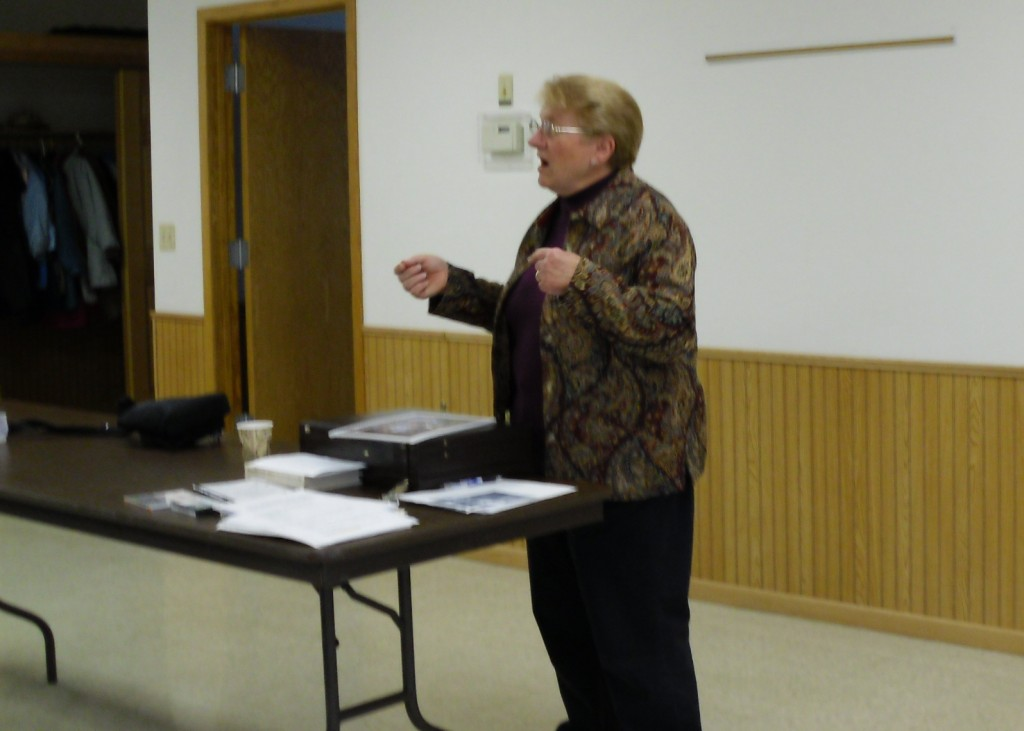 Susan speaking for Loomis Historical Society