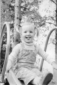 Rachel playing in the park. Photo originally in the Times-Press